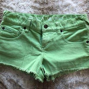 RVCA Green Corduroy Shorts